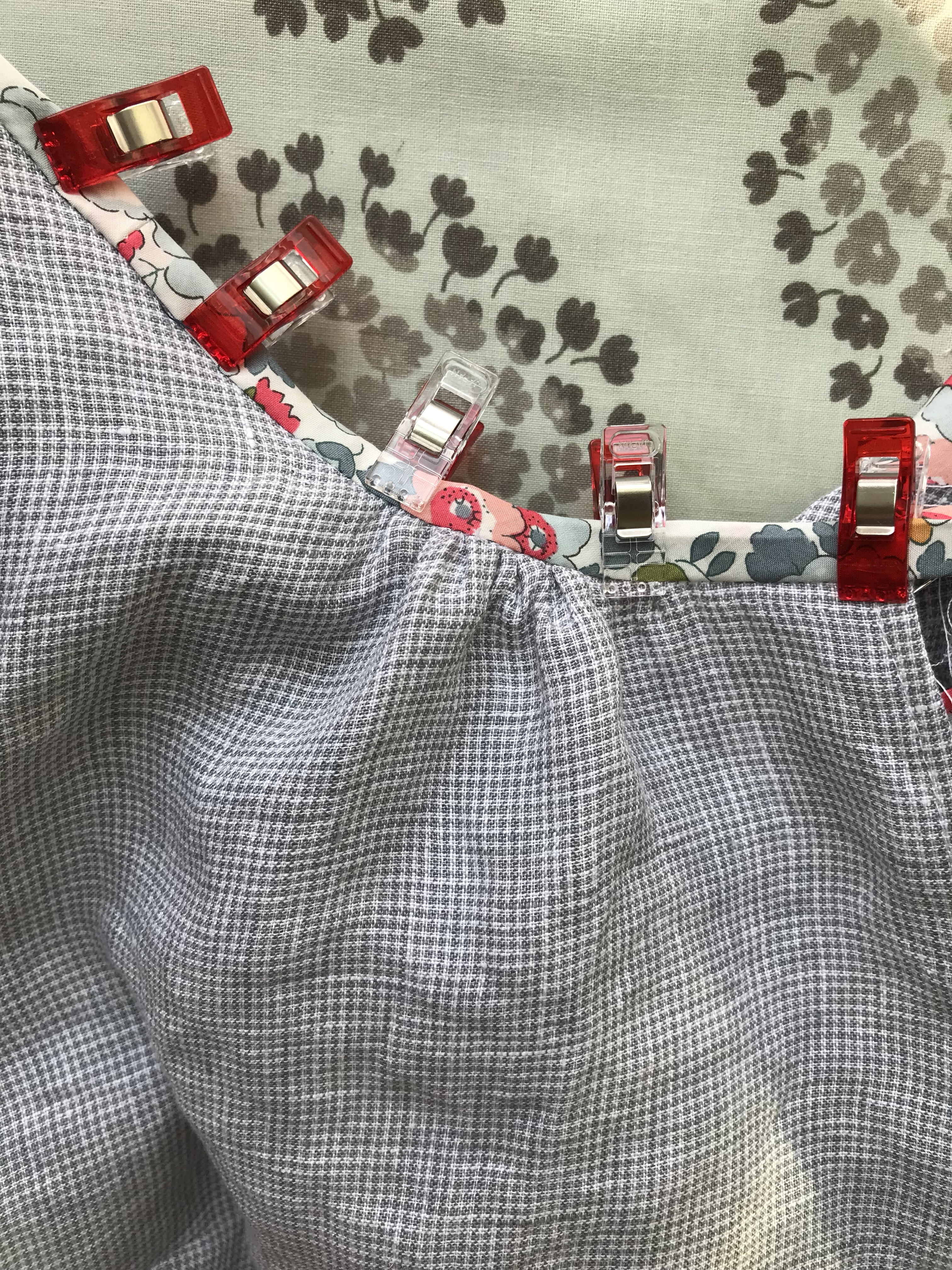 3ce0fe207 I had a vision of a boho blouse in linen with a Liberty floral trim. I had  already purchased this lightweight Telio linen checked fabric and I  realized that ...